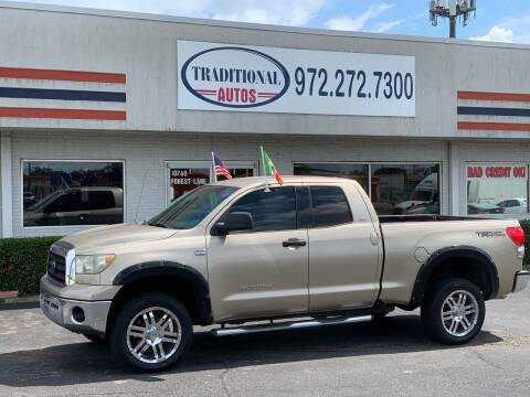 2007 Toyota Tundra for sale at Traditional Autos in Dallas TX