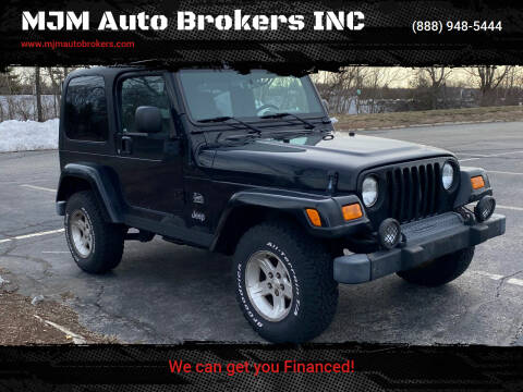 2004 Jeep Wrangler for sale at MJM Auto Brokers INC in Gloucester MA