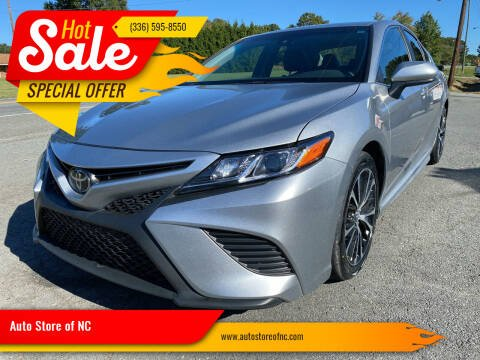 2018 Toyota Camry for sale at Auto Store of NC in Walkertown NC