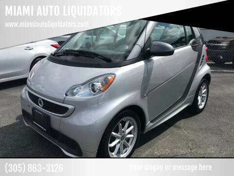 2015 Smart fortwo electric drive for sale at MIAMI AUTO LIQUIDATORS in Miami FL