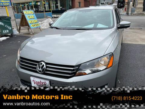 2014 Volkswagen Passat for sale at Vanbro Motors Inc in Staten Island NY