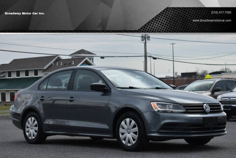 2015 Volkswagen Jetta for sale at Broadway Motor Car Inc. in Rensselaer NY