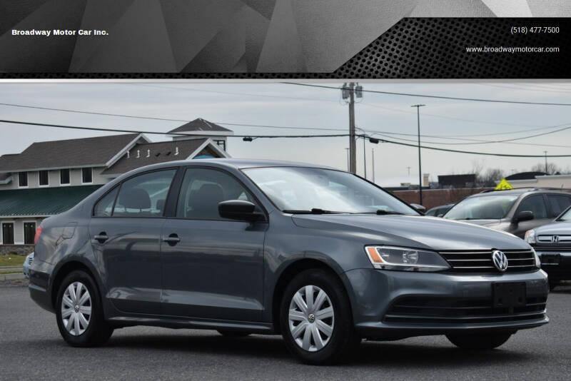 2015 Volkswagen Jetta for sale at Broadway Motor Car Inc. in Rensselaer NY