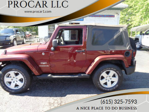 2007 Jeep Wrangler for sale at PROCAR LLC in Portland TN