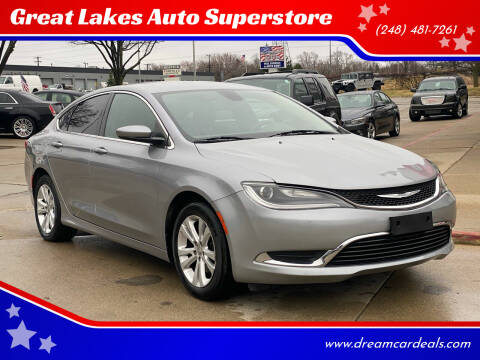 2015 Chrysler 200 for sale at Great Lakes Auto Superstore in Pontiac MI