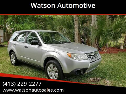 2011 Subaru Forester for sale at Watson Automotive in Sheffield MA