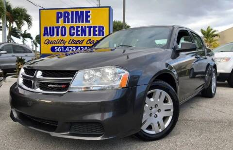 2014 Dodge Avenger for sale at PRIME AUTO CENTER in Palm Springs FL