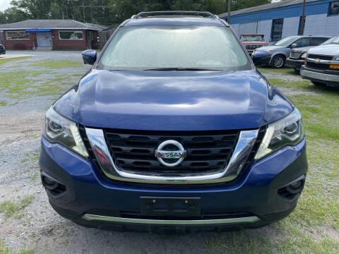 2017 Nissan Pathfinder for sale at LAURINBURG AUTO SALES in Laurinburg NC
