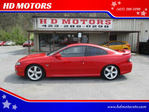 2006 Pontiac GTO for sale at HD MOTORS in Kingsport TN