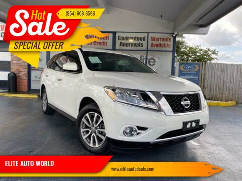 2014 Nissan Pathfinder for sale at ELITE AUTO WORLD in Fort Lauderdale FL