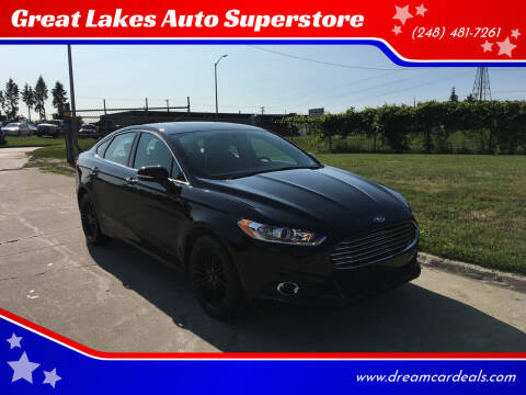 2016 Ford Fusion for sale at Great Lakes Auto Superstore in Pontiac MI