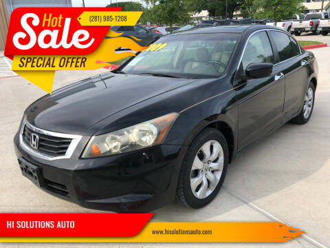 2009 Honda Accord for sale at HI SOLUTIONS AUTO in Houston TX