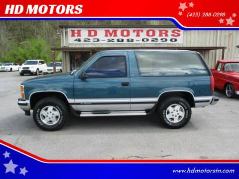 1993 Chevrolet Blazer for sale at HD MOTORS in Kingsport TN