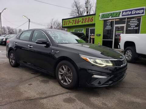 2019 Kia Optima for sale at Empire Auto Group in Indianapolis IN