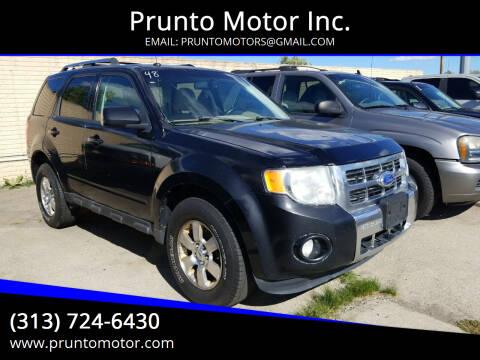 2011 Ford Escape for sale at Prunto Motor Inc. in Dearborn MI
