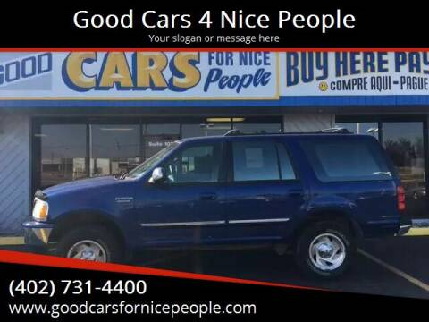 1997 Ford Expedition for sale at Good Cars 4 Nice People in Omaha NE