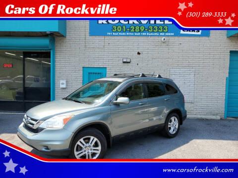 2011 Honda CR-V for sale at Cars Of Rockville in Rockville MD