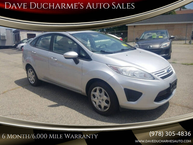 2011 Ford Fiesta for sale at Dave Ducharme's Auto Sales in Lowell MA