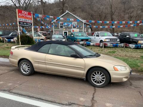 2001 Chrysler Sebring for sale at Korz Auto Farm in Kansas City KS