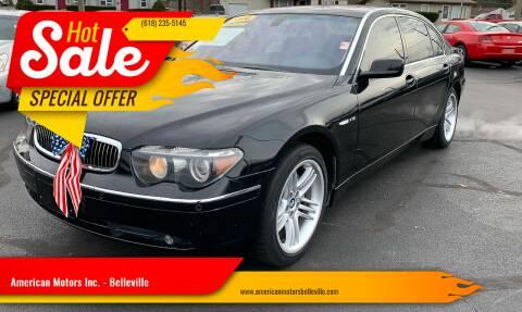 2004 BMW 7 Series for sale at American Motors Inc. - Belleville in Belleville IL