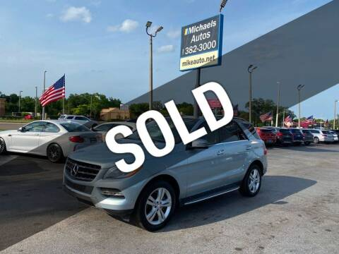 2014 Mercedes-Benz M-Class for sale at Michaels Autos in Orlando FL