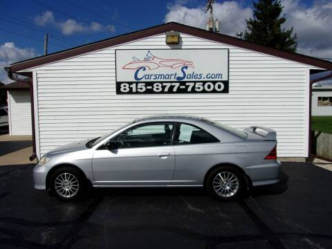 2005 Honda Civic for sale at CARSMART SALES INC in Loves Park IL