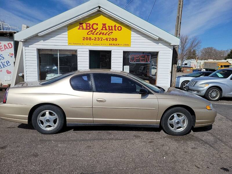2004 Chevrolet Monte Carlo for sale at ABC AUTO CLINIC - Chubbuck in Chubbuck ID