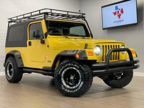 2004 Jeep Wrangler for sale at TX Auto Group in Houston TX