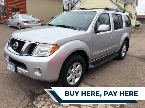 2008 Nissan Pathfinder for sale at WB Auto Sales LLC in Barnum MN