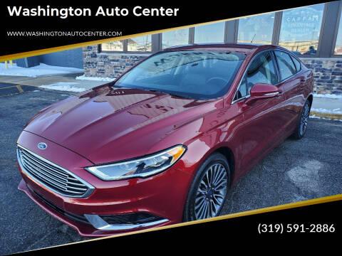 2018 Ford Fusion for sale at Washington Auto Center in Washington IA