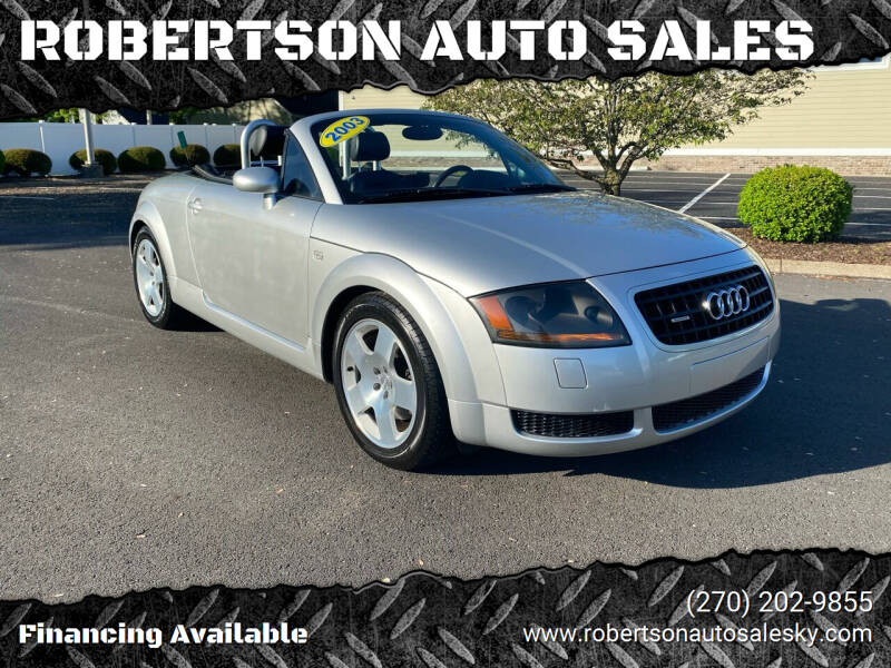 2003 Audi TT for sale at ROBERTSON AUTO SALES in Bowling Green KY