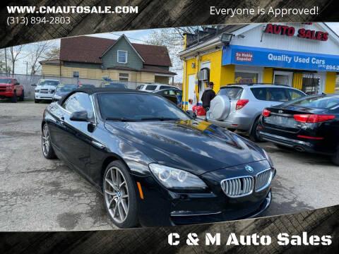 2012 BMW 6 Series for sale at C & M Auto Sales in Detroit MI