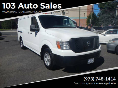 2016 Nissan NV Cargo for sale at 103 Auto Sales in Bloomfield NJ