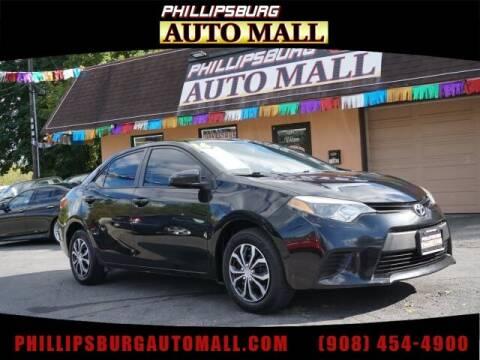 2016 Toyota Corolla for sale at Phillipsburg Auto Mall in Phillipsburg NJ