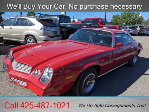 1980 Chevrolet Camaro for sale at Platinum Autos in Woodinville WA