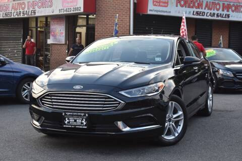 2018 Ford Fusion for sale at Foreign Auto Imports in Irvington NJ