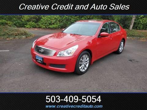 2009 Infiniti G37 Sedan for sale at Creative Credit & Auto Sales in Salem OR