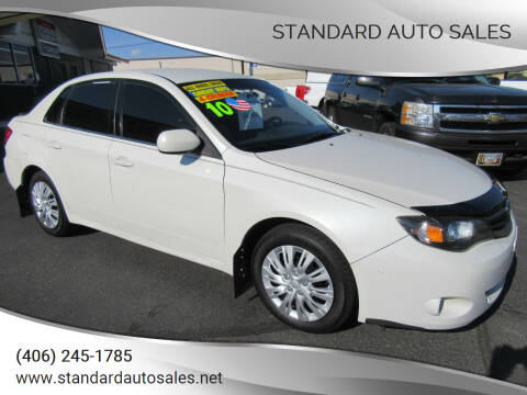 2010 Subaru Impreza for sale at Standard Auto Sales in Billings MT