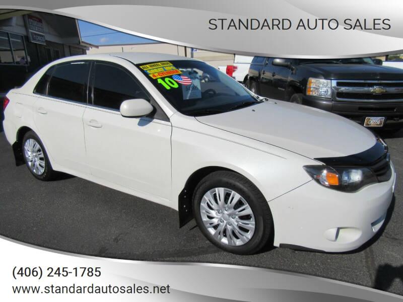 2010 Subaru Impreza for sale at Standard Auto Sales in Billings MT