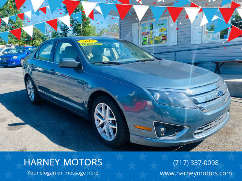 2012 Ford Fusion for sale at HARNEY MOTORS in Gettysburg PA