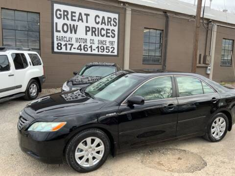 2009 Toyota Camry Hybrid for sale at BARCLAY MOTOR COMPANY in Arlington TX