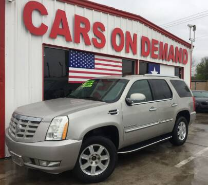 2007 Cadillac Escalade for sale at Cars On Demand 3 in Pasadena TX