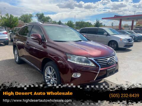 2013 Lexus RX 350 for sale at High Desert Auto Wholesale in Albuquerque NM