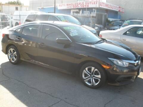2016 Honda Civic for sale at AUTO WHOLESALE OUTLET in North Hollywood CA