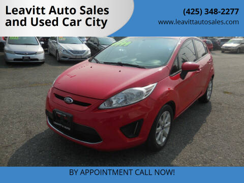2012 Ford Fiesta for sale at Leavitt Auto Sales and Used Car City in Everett WA