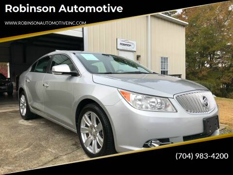 2012 Buick LaCrosse for sale at Robinson Automotive in Albemarle NC
