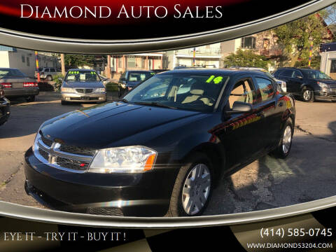 2014 Dodge Avenger for sale at Diamond Auto Sales in Milwaukee WI
