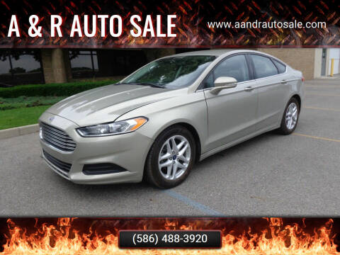 2015 Ford Fusion for sale at A & R Auto Sale in Sterling Heights MI