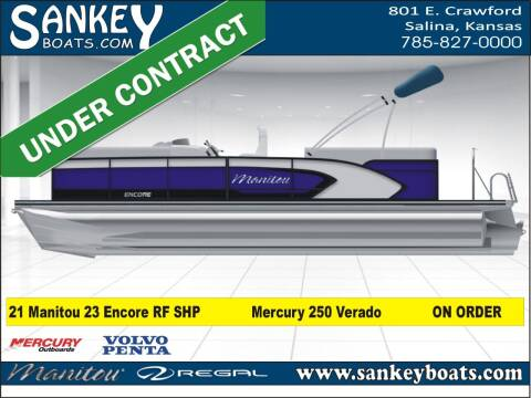 2021 Manitou 23 Encore RF SHP for sale at SankeyBoats.com in Salina KS