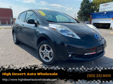 2011 Nissan LEAF for sale at High Desert Auto Wholesale in Albuquerque NM